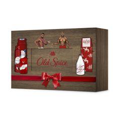 Old Spice Dřevěný Box Deodorant + Sprchový Gel + Voda Po Holení