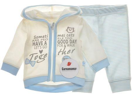Garnamama dívčí kojenecký set 56 béžová/modrá