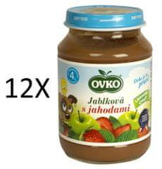 OVKO 12x Jablko+jahoda PT - 190g