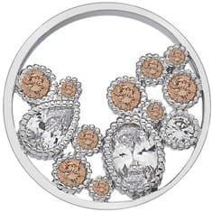 Hot Diamonds Medál Hot Diamonds Emozioni Spirito Libero Freedom Champagne Coin
