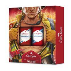 Old Spice Whitewater Fireman Darčeková Sada Pre Mužov: Tuhý Dezodorant + Sprchový gél