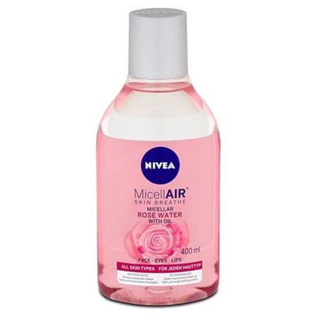 Nivea Dvojfázová micelárna voda s ružovou vodou (Micellar Rose Water) 400 ml