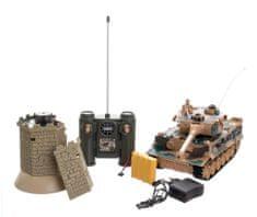 Teddies Tank RC 33 cm TIGER I + bunker 40MHz so zvukom a svetlom