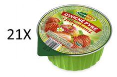 NOVOFRUCT 21x Ovocné pyré jablko+jahoda - 115g