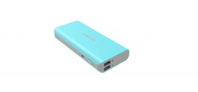 Romoss sense 4 LED PH50 Blue Power Bank 10400 mAh modrá 6951758340921