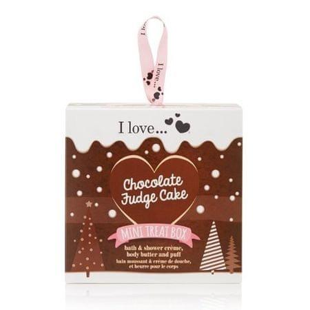 I Love Cosmetics Dárková sada s vůní čokoládového dortu Mini Treat Box Chocolate Fudge Cake