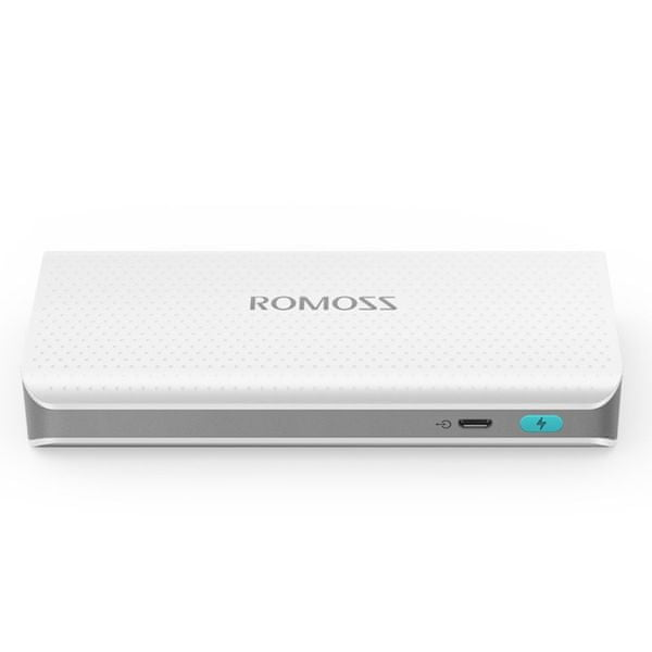 Romoss sense 4 LED PH50 White Power Bank 10400 mAh 6951758340907