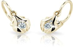 Cutie Jewellery Dětské náušnice C2224-10-10-X-1 zlato žluté 585/1000