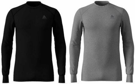 ODLO moška majica Warm, set, S, črna/siva