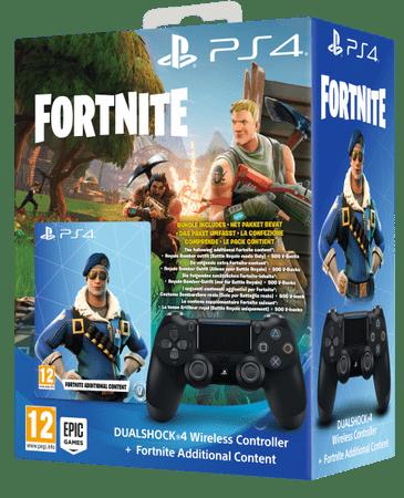 Sony igralni plošček za PS4 DualShock 4, črn + VCH Fortnite