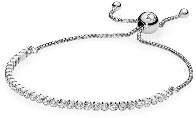 Pandora Třpytivý náramek 590524CZ (Délka 23 cm) stříbro 925 1000 e0906f20b5b