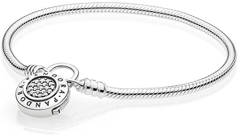 Pandora Stříbrný náramek s třpytivým zámkem 597092CZ (Délka 18 cm) stříbro  925 1000 99b1cdc6e76