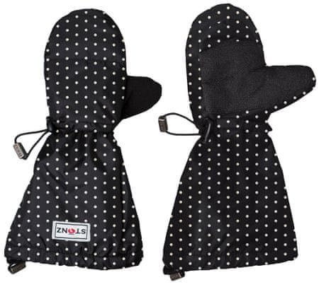 Stonz Youth Mittz Polka Dot - Black & White M-L (104-128 cm)