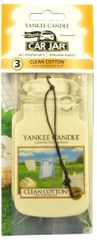 Yankee Candle Papírová visačka 3 ks - Clean Cotton