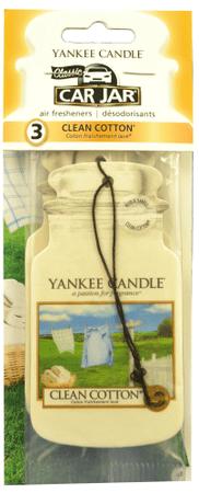 Yankee Candle Papírová visačka 3 ks - Clean Cotton