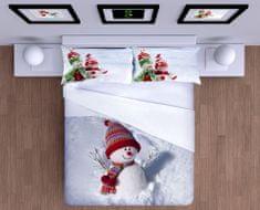 Gipetex bombažna posteljnina Pupazo Di Neve - Snežak 3D