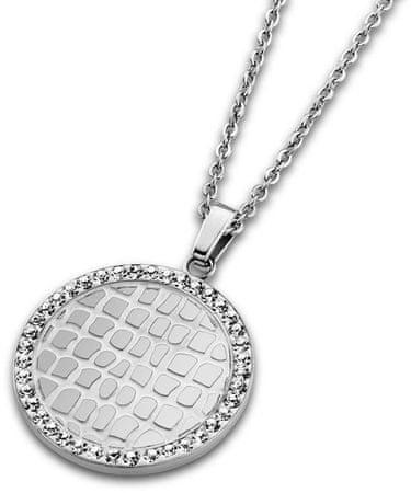 Lotus Style Nemesacél nyaklánc kristályokkal LS1778-1/1
