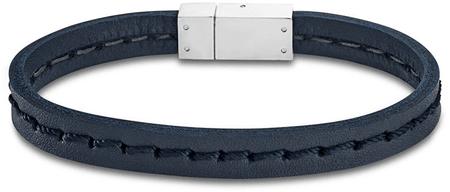 Lotus Style Tmavě modrý kožený náramek LS1812-2/1
