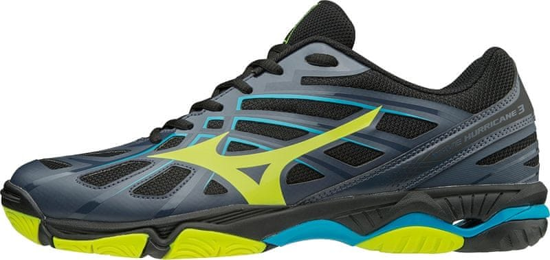 Mizuno Wave Hurricane 3 Oblue Syellow Hawaiianoc 44.0