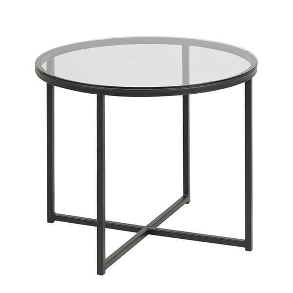 Design Scandinavia Konferenční stolek Claire kulatý, kouřová/černá
