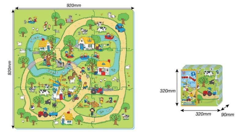 MaDe Puzzle pěnové – farma