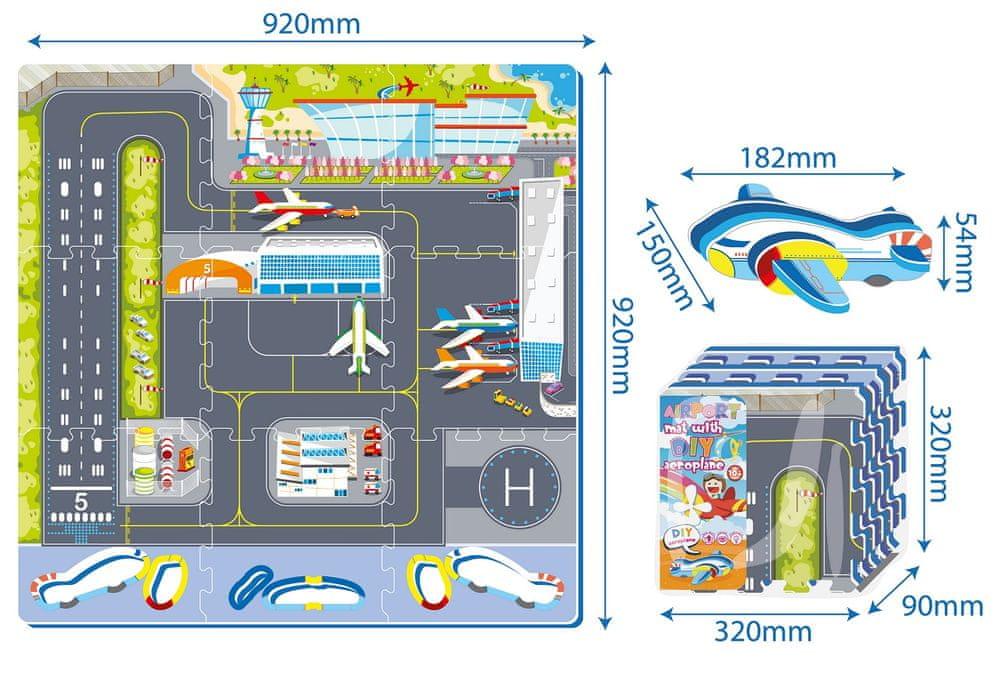 Made Puzzle letiště 9 ks 32 x 32 cm