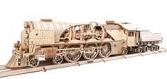 UGEARS V-express lokomotiva s vagónem