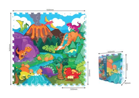 MaDe puzzle z pianki Dinozaury