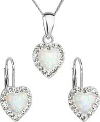 Evolution Group Srdiečková súprava šperkov 39161.1 & white s.opal striebro 925/1000