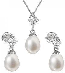 Evolution Group Luxusní stříbrná souprava s pravými perlami Pavona 29018.1 stříbro 925/1000
