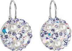 Evolution Group Stříbrné náušnice s krystaly 31183.9 tanzanite AB stříbro 925/1000