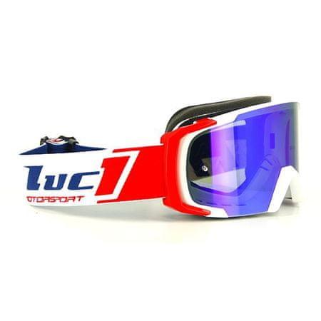 Motocyklové crossové brýle S-line Scrub MX bílá-červená