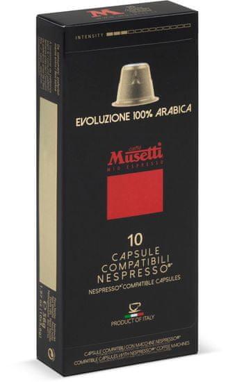 Caffé Musetti 100% Arabica Evoluzione kapsule, balenie 10ks