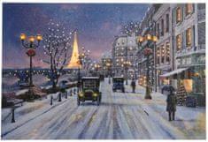 Kaemingk Svítící vánoční obraz Paris,LED žárovky
