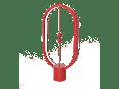 Allocacoc Heng Balance lampa Plastic Ellipse USB, červená