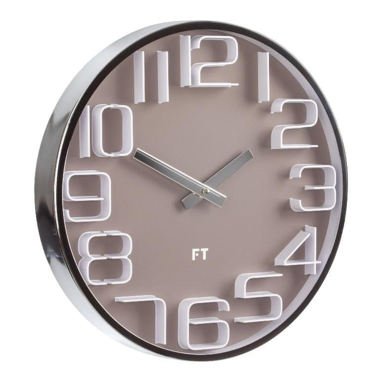 Future Time Designové nástěnné hodiny FT7010BR Numbers 30 cm