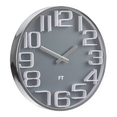 Future Time Dizájnos falióra FT7010GY Numbers 30 cm