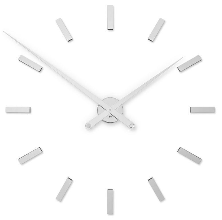 Future Time Designové nalepovací hodiny FT9100SI Modular Chrome 85 cm