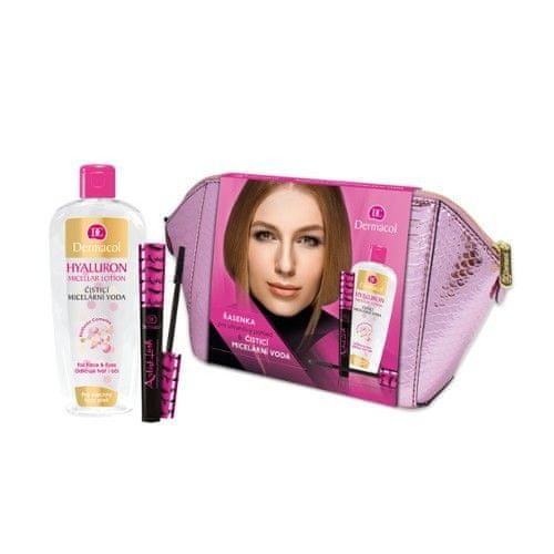 Dermacol Artist Lash pro ženy řasenka 10 ml + čisticí micelární voda 400 ml + kosmetická taštička dárková sada