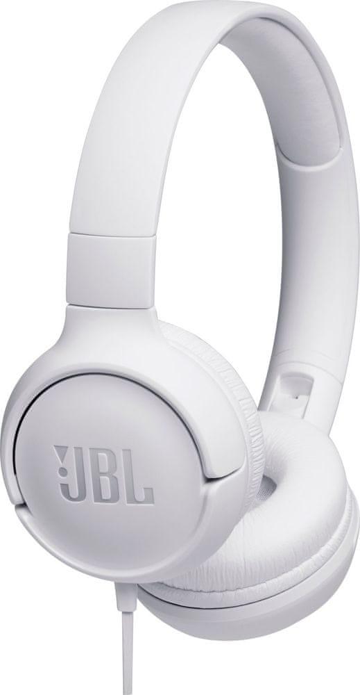 JBL Tune 500 sluchátka s mikrofonem, bílá