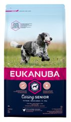 Eukanuba hrana za pse Senior Medium, 15 kg