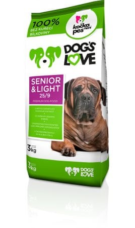 Dogs&Cats love Dogs love Senior&light 3kg