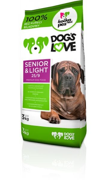 Dogs&Cats love Dogs love Senior&light 3kg