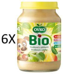 OVKO 6x BIO hruška + jablko PT - 190g