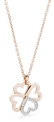 Brosway Oceľový bicolor náhrdelník so štvorlístkom C-lover BOV04