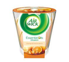 Air wick Essential Oils Infusion DECO sviečka - Pomaranč a sviatočné korenie 150g