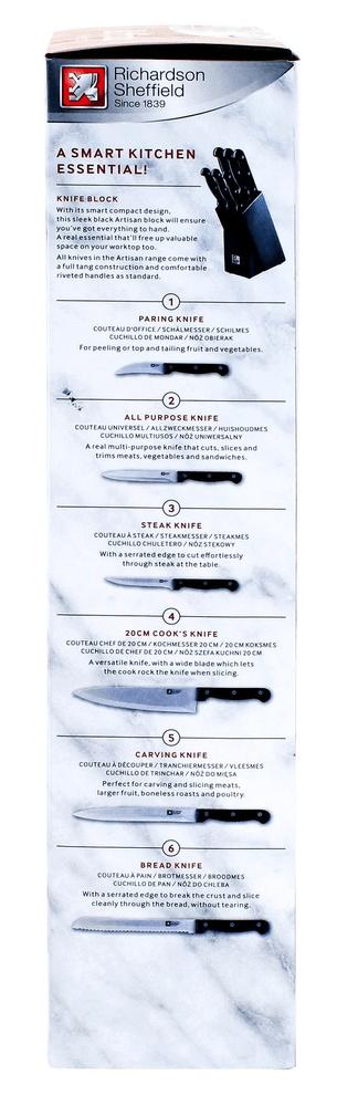 Richardson Sheffield Blok na nože Artisan, 6 dílný