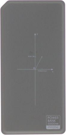 REMAX power bank 10.000 mAh, bezdrátová powerbanka, šedá AA-1295
