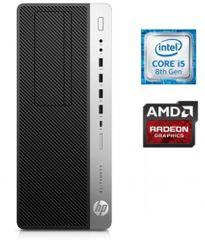 HP namizni računalnik EliteDesk 800 G4 TWR i5-8500/8GB/SSD256/RX580/W10P (4KW82EA#BED)