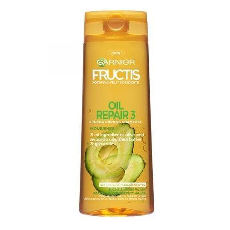 Garnier Wzmocnienie Szampon do włosów suchych i gruba Naprawa oleju 3 (objętość 250 ml)